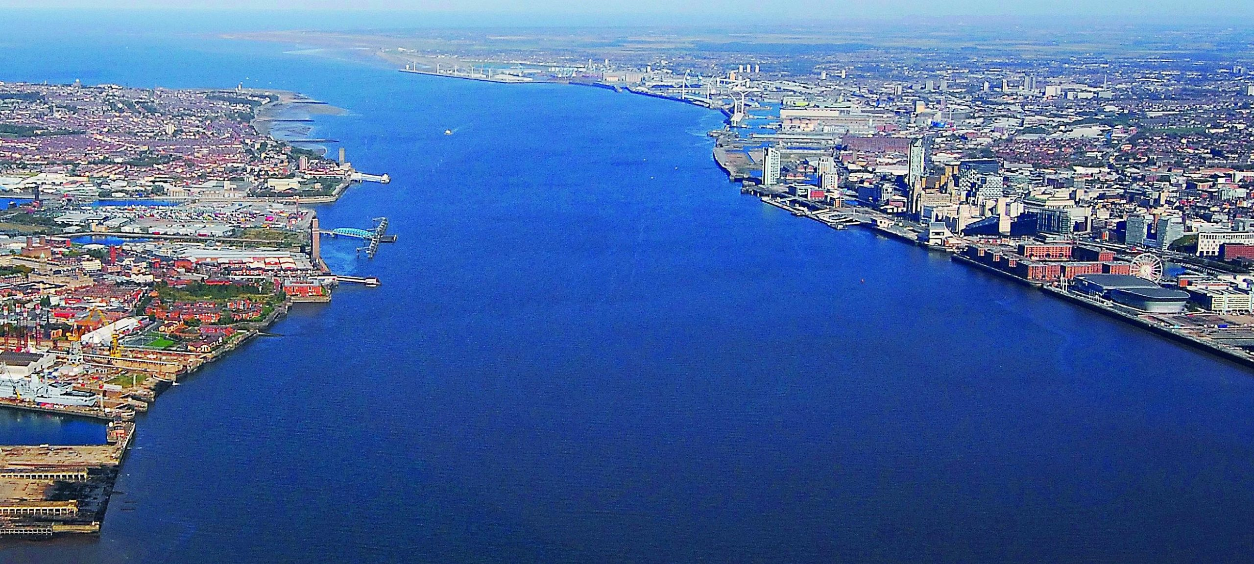 River Mersey aerial view